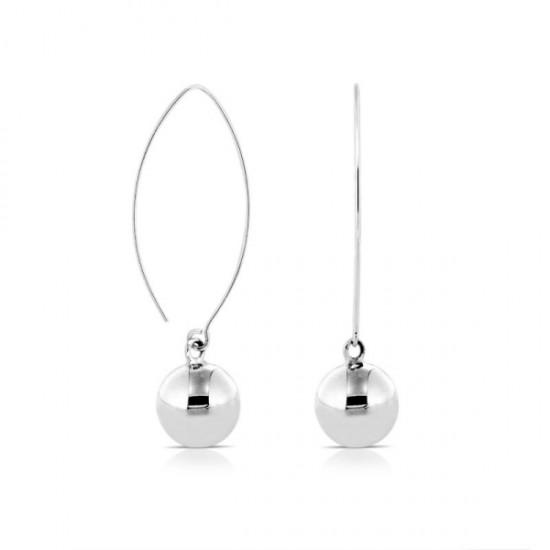 Cherry Silver Earrings